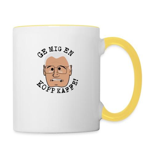 Lennart ge mig en kopp kaffe3500x4602 png - Tvåfärgad mugg