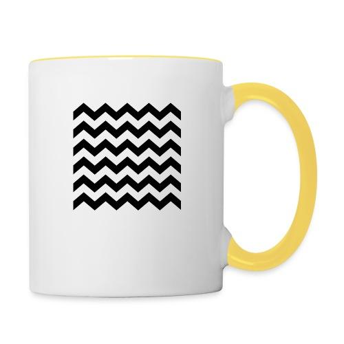 zigzag png - Mug contrasté