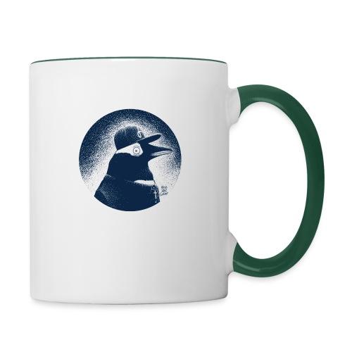 Pinguin dressed in black - Contrasting Mug
