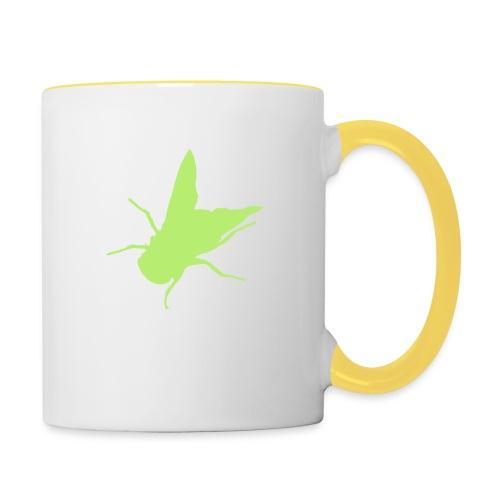 fliege - Tasse zweifarbig