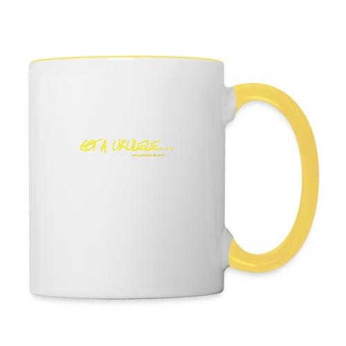 Official Got A Ukulele website t shirt design - Contrasting Mug
