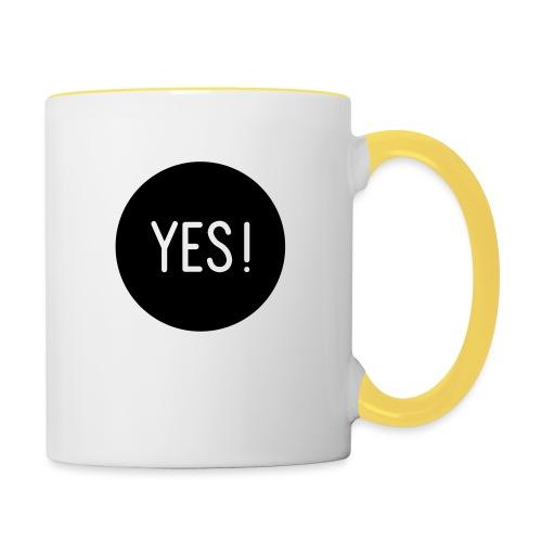 YES! - Tasse zweifarbig