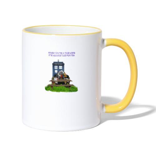 TIME AND SPACE AND TEA - Contrasting Mug