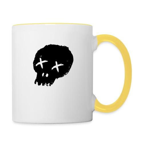 blackskulllogo png - Contrasting Mug