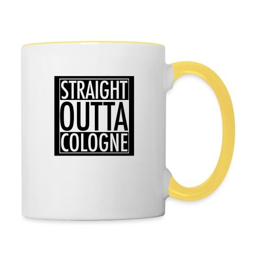 Straight Outta Cologne - Tasse zweifarbig