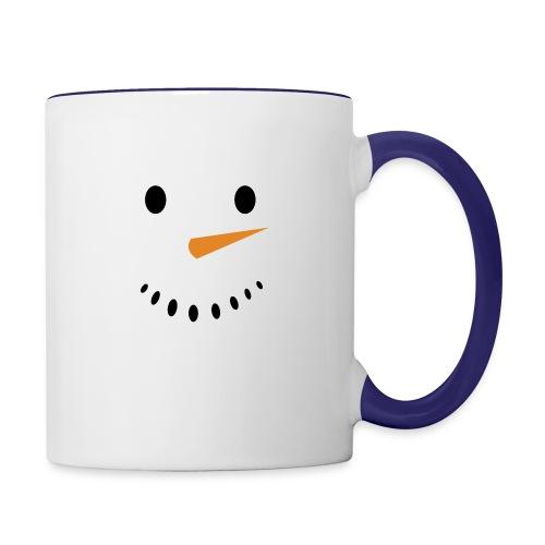 Bonhomme de neige Noël Hiver - Mug contrasté