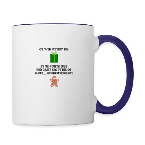 T-shirt cadeau de Noël - Mug contrasté