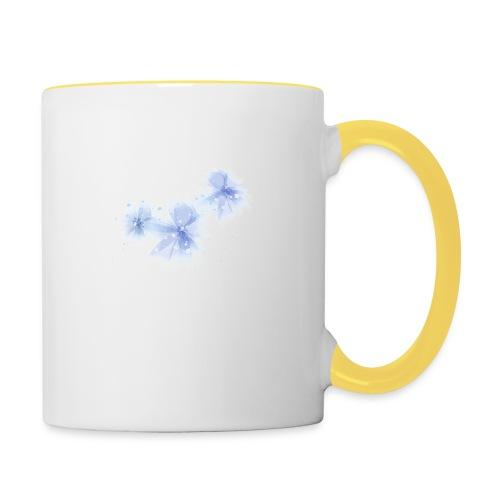 blue flowers - Kubek dwukolorowy