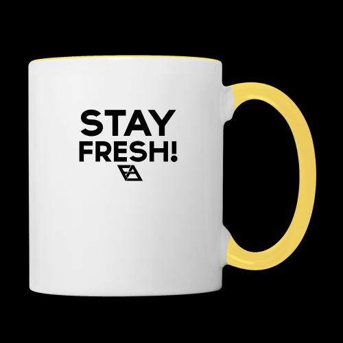 STAY FRESH! T-paita - Kaksivärinen muki
