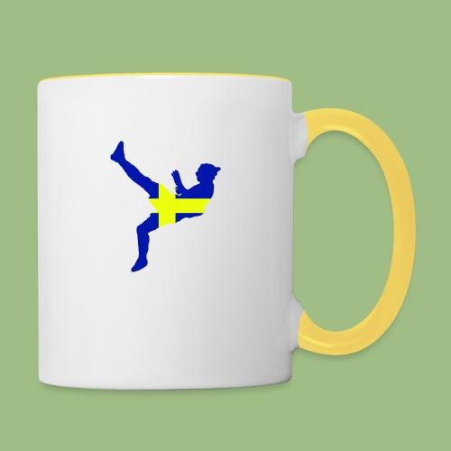 Ibra Sweden flag - Tvåfärgad mugg