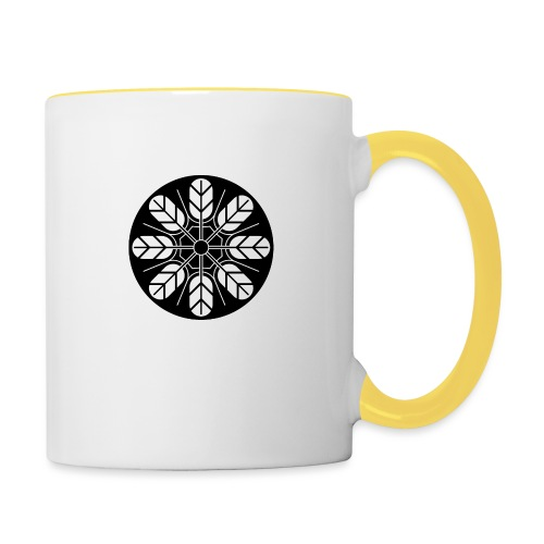 Inoue clan kamon in black - Contrasting Mug