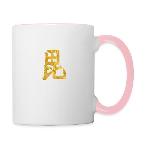 Uesugi Mon Japanese samurai clan in gold - Contrasting Mug