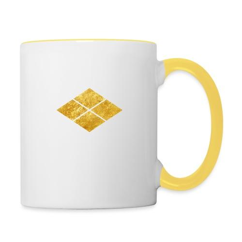 Takeda kamon Japanese samurai clan faux gold - Contrasting Mug