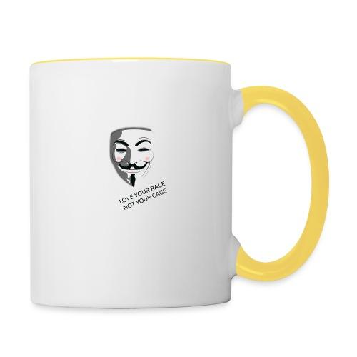 Anonymous Love Your Rage - Contrasting Mug