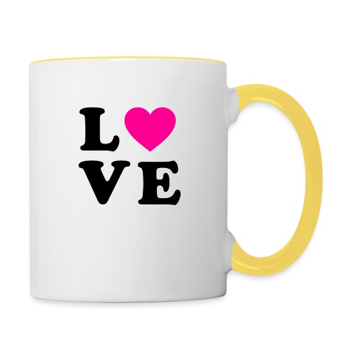 Love t-shirt - Mug contrasté