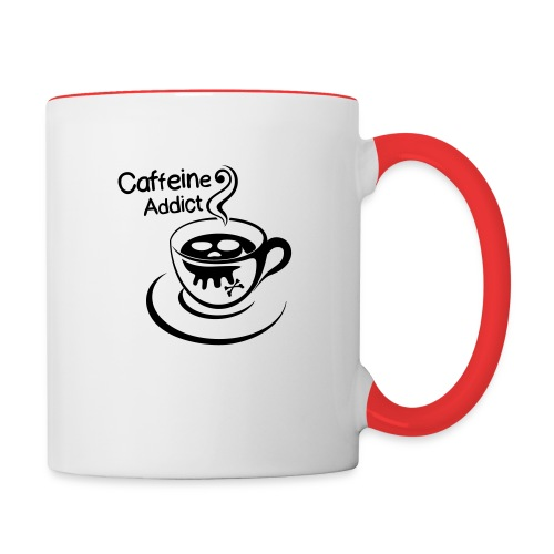 Caffeine Addict - Mok tweekleurig