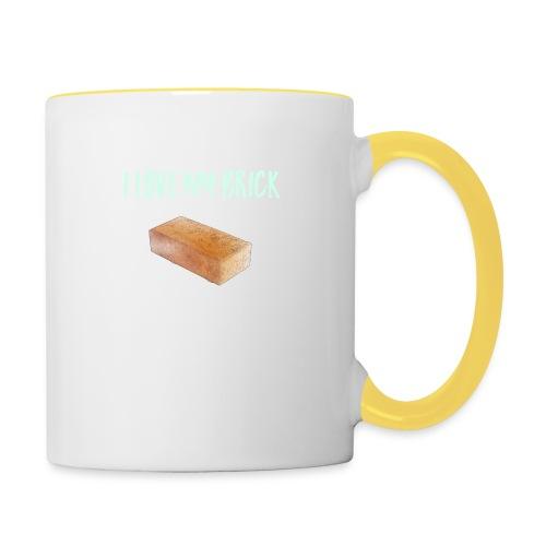 I love my brick - Contrasting Mug