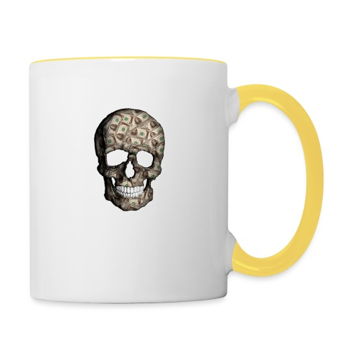 Skull Money Black - Taza en dos colores