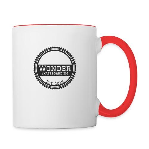 Wonder unisex-shirt round logo - Tofarvet krus
