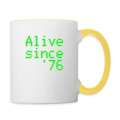 Alive since '76. 40th birthday shirt - Contrasting Mug