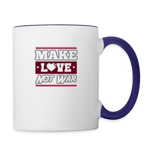 Make_love_not_war by Lattapon - Tofarvet krus
