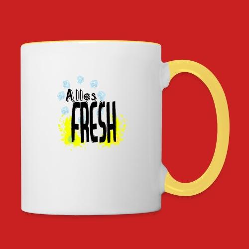 Alles Fresh / Frisch Sommer Eis - Tasse zweifarbig