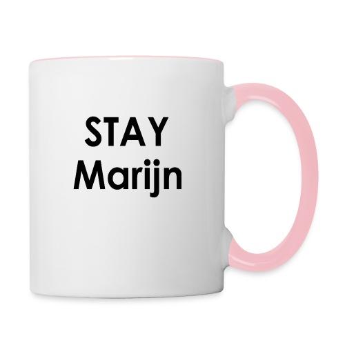 stay marijn black - Mok tweekleurig