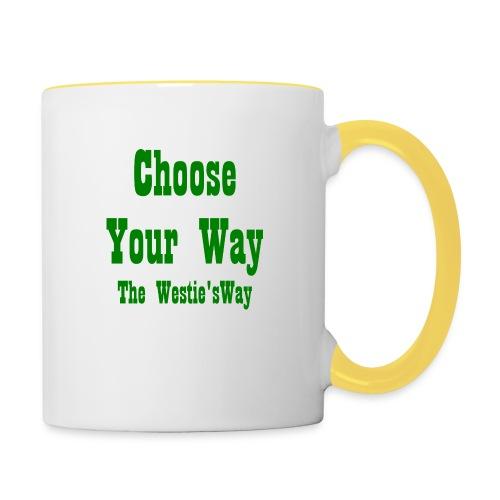 Choose Your Way Green - Kubek dwukolorowy
