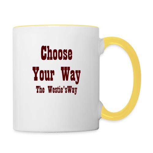 Choose Your Way Brown - Kubek dwukolorowy