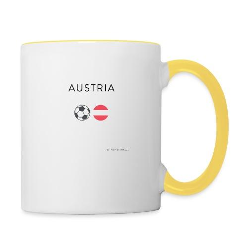 Austria Fußball - Tasse zweifarbig