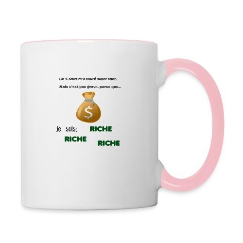 Je suis riche. - Mug contrasté