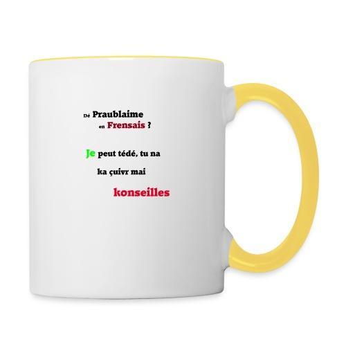 Probleme en français - Mug contrasté