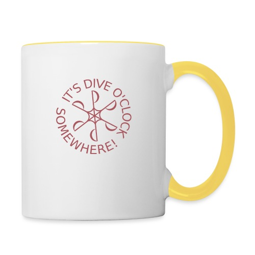 Dive o clock Dark Pink - Contrasting Mug