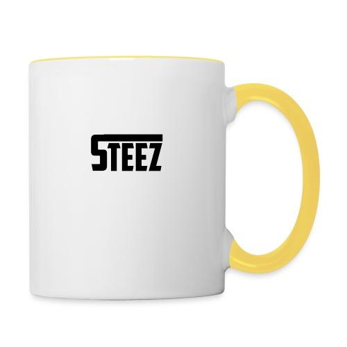 steez tshirt name - Mok tweekleurig