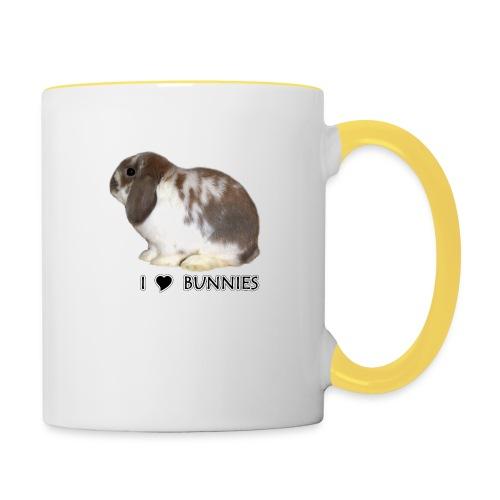 I Love Bunnies Luppis - Kaksivärinen muki