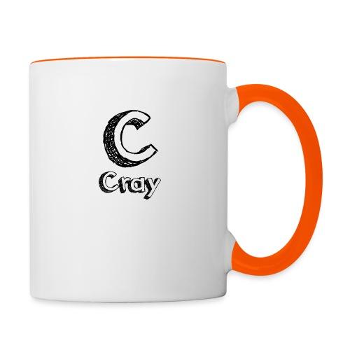 Cray Anstecker - Tasse zweifarbig