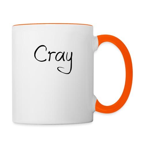 Cray Black Schrifft - Tasse zweifarbig