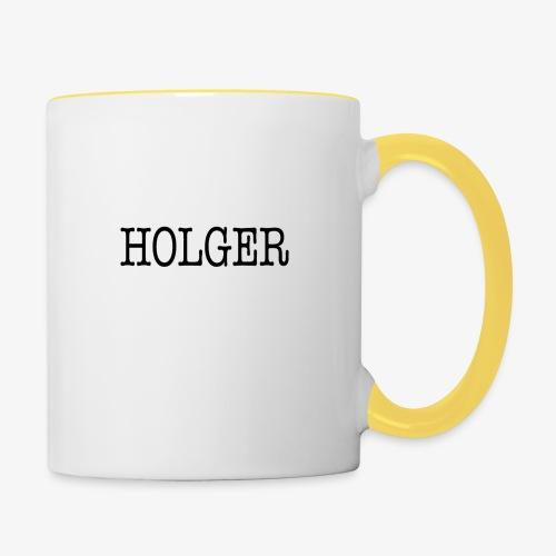 Holger Snapback Cap - Tofarvet krus