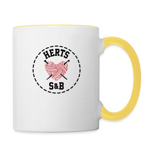 StitchAndBitchFrontLogo_B - Contrasting Mug