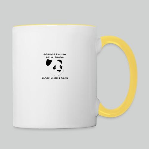 Against Racism Panda - Tasse zweifarbig