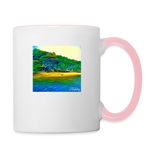 Tropical beach - Tazze bicolor
