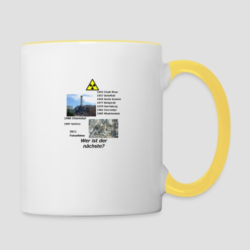 no nuclear button (German) Wer ist der Nächste? - Contrasting Mug