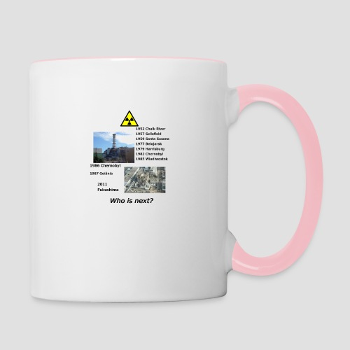 no nuclear button Who is next? - Contrasting Mug