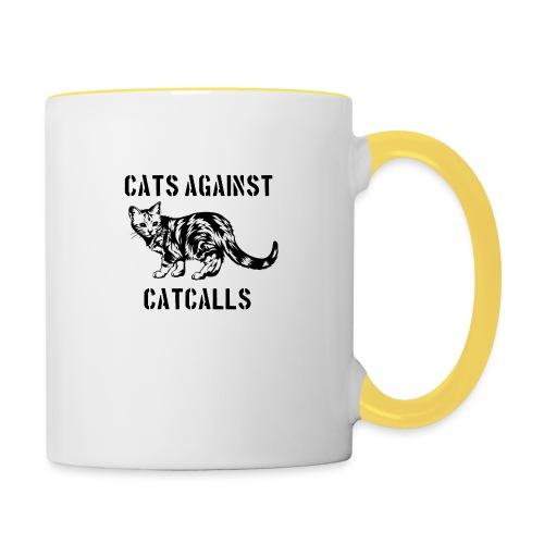 Cats against catcalls - Contrasting Mug