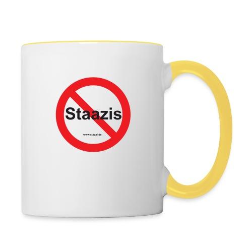 Staazis Verboten - Tasse zweifarbig