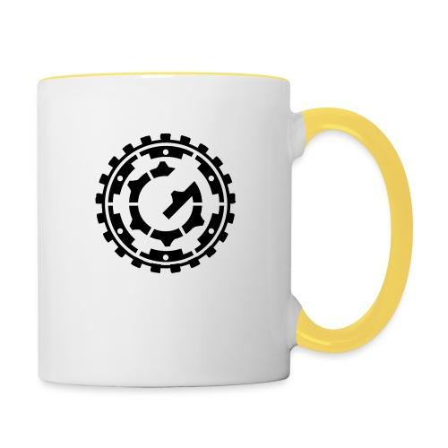 Steffen G. Logo schwarz - Tasse zweifarbig