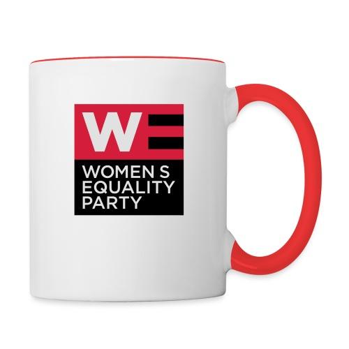 WE_LOGO_RED_CMYK - Contrasting Mug