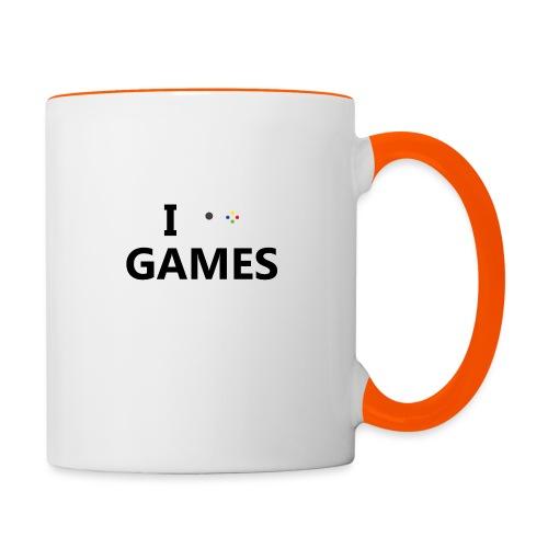 I Love Games - Taza en dos colores