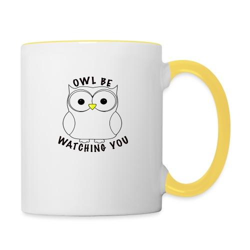 OWL BE WATCHING YOU - Contrasting Mug