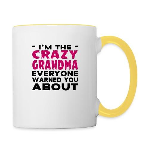 Crazy Grandma - Contrasting Mug